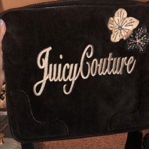 Juicy Couture Brown Velour Laptop Case w/Strap